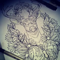 Photo by flonuttall Bloody Flo is too awesome. #tattoo #stag