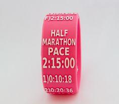 Half Marathon Paceband 2:15 Pink/White