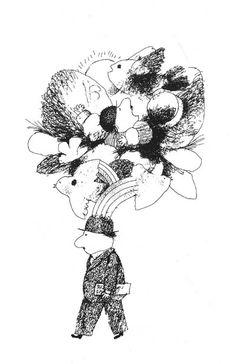 Ilustraciones para «El hombrecito vestido de gris y otros cuentos» Ulises Wensell Illustration, Art, Drawings, Humanoid Sketch