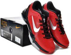 http://www.asneakers4u.com Nike Zoom Kobe 7 Elite Shoes Red/Black/Gray5