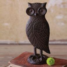 Cast Iron Owl Statue. Owl figurine