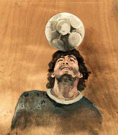 #athletes #Diego #Maradona #WorldFootballChampionship #football #WordCup #legend #tschutti heftli #DiegoMaradona