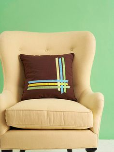 Overlapping Ribbon Pillow