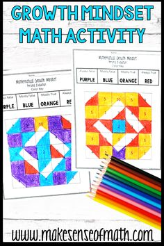 Check out this fun middle school math growth mindset activity.  This is a great activity to use for back to school or any time of year to understand your students better. Use this coloring page to accompany a lesson on growth mindset. Click here to check out this product. #makesenseofmath Math Classroom, Classroom Setup, Seventh Grade Math, Growth Mindset Activities, Fun Math Activities, Math Education, Math Concepts, Middle School, Core