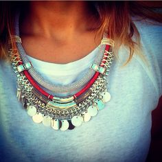 Statement necklace By Cuca #statement #maxicolar #statementnecklace #necklace #cuca #bijuteria