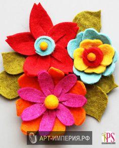 Цветок из фетра своими руками, цветы из фетра своими руками мастер класс, цветы…
