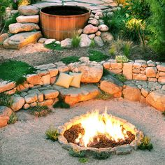 Backyard campfire - Ideas for Fire Pits - Sunset