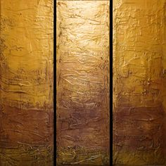 "extra large huge triptych 3 panel wall art colorful painting big ""Gold Intervention"" 3 panel canvas wall abstract canvas impasto abstraction x and x Acrylic painting by Stuart Wright Large Canvas Art, Large Wall Art, Abstract Canvas, Wall Canvas, 3 Panel Wall Art, Triptych Wall Art, Gold Wall Art, Gold Art, Deep Art"