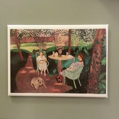 """Henri Matisse, """"Tea,"""" France, oil on canvas, 55 ¼ x 83 ¼ in. """"got a LOT of favorite Matisses and this is for sure one of em: """" LACMA: """"Tea is the largest painting executed by Henri. Henri Matisse, Matisse Kunst, Matisse Art, Raoul Dufy, Matisse Pinturas, Matisse Paintings, Art Sur Toile, Illustration Art, Illustrations"""
