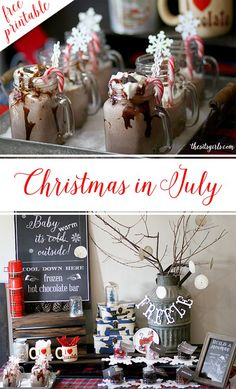 Build the perfect Christmas in July party with frozen hot chocolate, summer letters to Santa, and more!