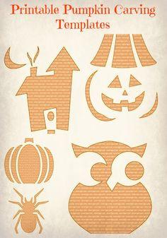 Printable pumpkin carving templates