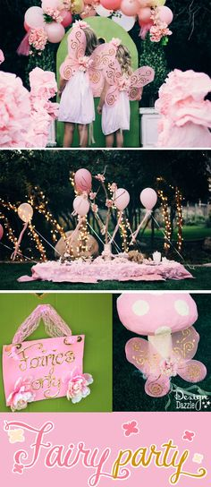 The details on this affordable Fairy Tea Party is amazing! Create the high-end look using dollar store and free items for this Party on a dime challenge! Fairy Birthday Party, 3rd Birthday Parties, 4th Birthday, Birthday Ideas, Fiesta Party, Princesse Party, Fairy Tea Parties, Tinkerbell Party, Butterfly Party