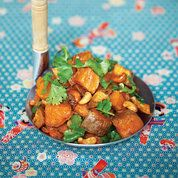 Roasted sweet potato with cashews | Easy vegetarian recipes