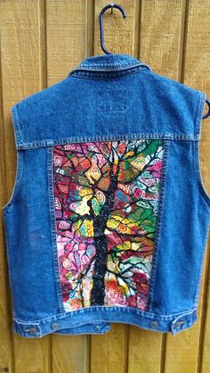 Hey, I found this really awesome Etsy listing at https://www.etsy.com/listing/190983256/wearable-art-tree-of-life-hand-painted