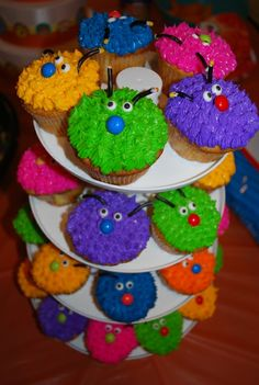 Cupcakes from a Monster Party #monsterparty #cupcakes