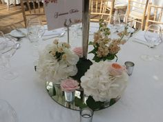 Wedding Table Flowers by Joeanna Caffrey Wedding Table Flowers, Floral Wedding, Florals, Table Decorations, Inspiration, Home Decor, Floral, Biblical Inspiration, Decoration Home