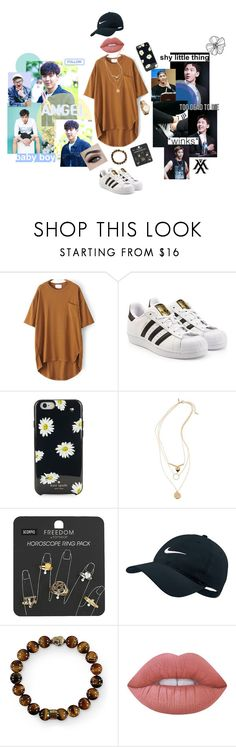 """""""we all have a dark side"""" by hungryluisa ❤ liked on Polyvore featuring So It Goes, adidas Originals, Kate Spade, Topshop, NIKE, Lime Crime and MVMT"""