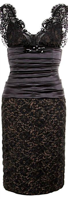 Dolce & Gabana black lace & satin dress   The House of Beccaria~    jaglady