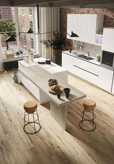 Modern spacious kitchen.