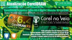 Atualização CorelDRAW Graphics Suite X6.4 Hotfix 1 Versão 16.4.0.1280 para 16.4.1.1281