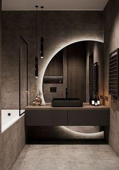 Bathroom Design Luxury, Modern Bathroom Design, Modern House Design, Modern Luxury Bedroom, Luxurious Bedrooms, Modern Tv Room, Luxury Living, Washroom Design, Modern Apartment Design