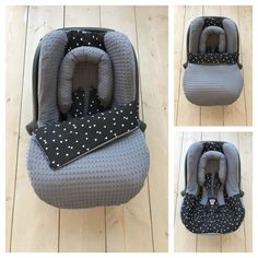 Universal Maxi Cosi set of waffle cotton large in the color dark gray in combi . Baby Mine, My Baby Girl, Baby Life Hacks, Baby Bouncer, Baby Gadgets, Baby Prams, Baby Footprints, Baby Couture, Baby Keepsake