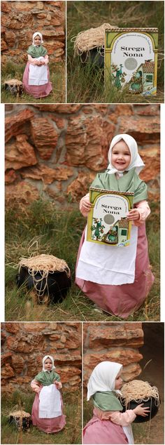 A mom who dresses her daughter up like her favorite book characters. Strega Nona!