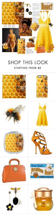 """""""Honey... Wear It! Eat It! Carry It!"""" by personaleffects ❤ liked on Polyvore featuring Herbal Essences, Giambattista Valli, Giuseppe Zanotti, Dasein, Skinfood, fashionset, polyvorestyle and polyvorefashion"""