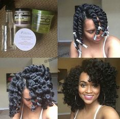 CHUNKY TWIST OUT. My twist out wouldn't turn out this good in a million years.