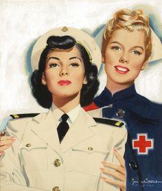 Jon Whitcomb. A. R. C. Nursing, 1944, WW2