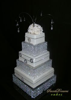 Bling wedding cake - Castom made stand.