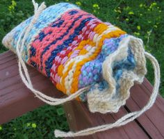 Pouch Weaving with kids. Directions for Weaving a Seamless Pouch