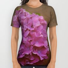 Pink hydrangea with a touch of blue All Over Print Shirt