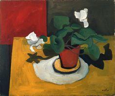 William Scott, Cyclamen, 1946, Oil on canvas, 46.4 × 54.7 cm / 18¼ × 21¼ in, Private collection