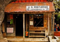 The Luckenbach Post Office -  Nature, Landscape, Western, Texas Photography, Fine Art Print, Hill Country