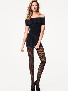 Buy Wolford Stripes Tights for We are Earth's biggest hosiery store, we offer more sizes and colours for Wolford Stripes Tights than any one else. Pantyhose Fashion, Black Pantyhose, Fashion Tights, Nylons, Wolford Stockings, Wolford Tights, Striped Tights, Striped Dress, Animal Print Tights
