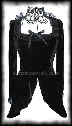 Black Velvet Gothic Victorian Jacket Top