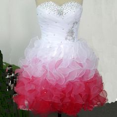 Cute Sweetheart Beaded Tulle Short Prom Dress WANT!!!