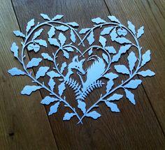 Mrs Fox papercut by Emma Boyes