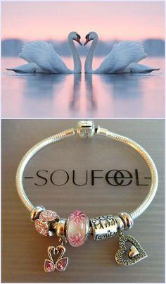 Feminine elegant Soufeel charms bracelet, must-have design!