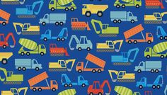 More fun fabric just arrived... this is 'Auto' (12 photos) NEW from Makower UK... Part of the Henley Studio Collection... how much fun is 'Auto' - A bright fun children's collection of cars, diggers and lorries - Yeah, I had to look it up... in the UK they call 'em lorries, in the USA we call 'em trucks :)