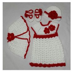 Hey, I found this really awesome Etsy listing at https://www.etsy.com/listing/168500425/white-red-crochet-baby-girl-dress-with