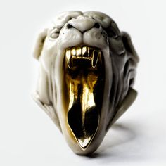 WHITE PANTHER RING - Macabre Gadgets Official Online Boutique