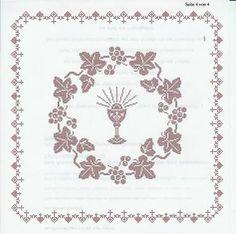 Weihkorbdecken Zählvorlage - Weihkorbdecken - Themen Cross Stitch Patterns, Crochet Patterns, C2c Crochet, Embroidered Flowers, Knitting Projects, Quilt Blocks, Free Pattern, Diy And Crafts, Quilts