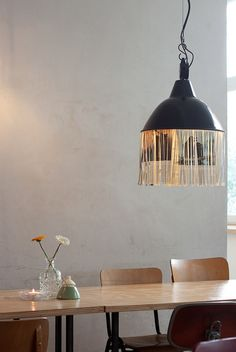 Love the lamp. Interesting way to use a newspaper.