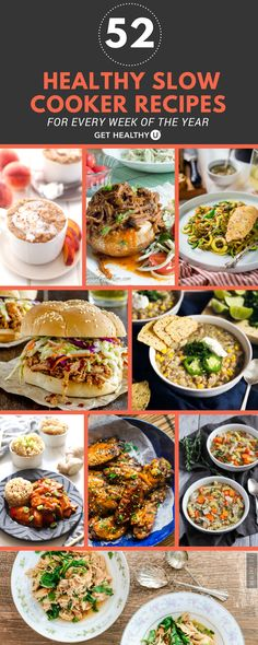 Whip up one of these healthy, delicious slow cooker meals today! These are not only easy to make, they're the perfect breakfast, lunch or dinner during these cold autumn months! #fallfood #fallfavorites #slowcooker #slowcookerrecipes #healthyrecipes #fallrecipes
