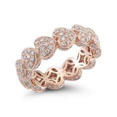 "Brides.com: . ""Karly Beth"" in 14k rose gold and 1.28 carats of diamonds, $3,740…"