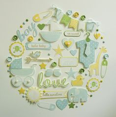 Baby Boy Wall Hanging - created by Sandy Mott