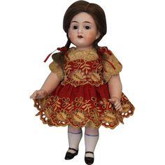 "Antique 8.5"" Large All Bisque 5934 German Bisque Doll Bargain Price! from turnofthecenturyantiques on Ruby Lane"