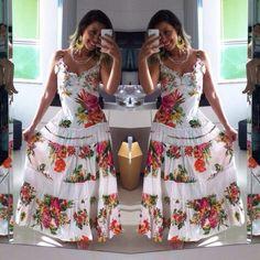 Veja nosso novo produto Vestido indiano longo luxo Floral com poa  lançamento verão Belli Vie! Se gostar, pode nos ajudar pinando-o em algum de seus painéis :)
